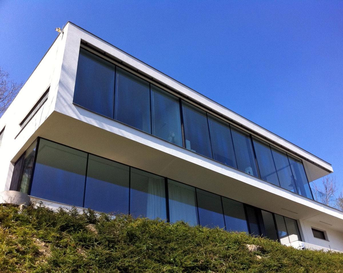 Moderne Fenster ganzglas design fenster münchen josef maier